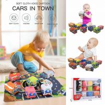Interaktivna bebi podloga sa 6 autića
