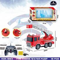 Vatrogasni kamion na daljinsko upravljanje sa efektom prave vode